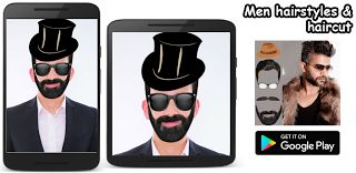Men hairstyles & haircut  Men hairstyles & haircut is a full appYou can choose a photo from the gallery or take a photo with the camera Create amazing pictures using various of hairstyles cap mustache stylesglasses and beard styles. You can easly change hairmustache and beard colour Share  allow you to share your app with friends Rate  allow the user to review your app Hair Changer Men Hairstyles is the best photo editor hairstyle app for man to change hairstyles in few seconds! Try FREE…