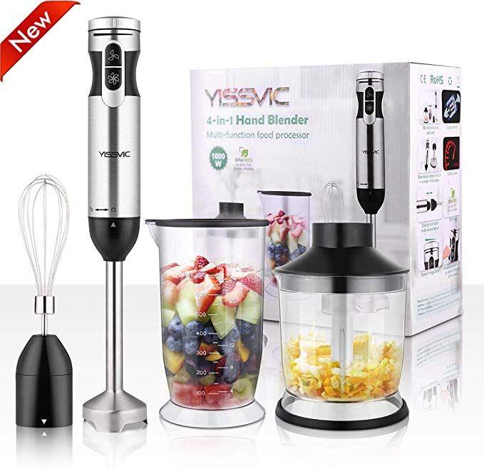 220V 1000W Electric Stick Hand Blender Mixer Whisk Food Fruit Grinder Juicer Set