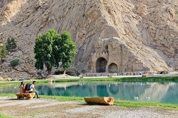 Sassanian site of Tagh-e Bostan in Kermanshah, IRAN
