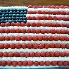 American Flag Cake (via www.foodily.com/r/qF8UEvKLX)Cristina Ferrare, John Pick, Food, American Flags Cake, Cupcakes Recipe, July 4Th, Click Image, Cake Recipes, Rum Cake