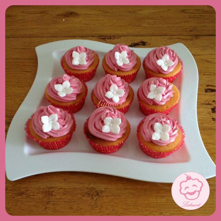 cupcakes pink, aardbeien - Lataart