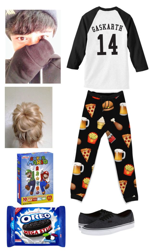 """Lazy Day With Calum Hood"" by roxas-lightwood ❤ liked on Polyvore featuring Junk Food Clothing and Vans"