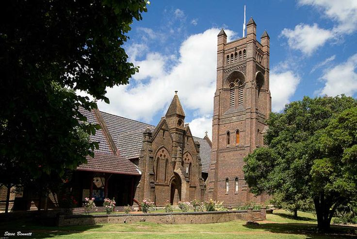 """The Armidale Cathedral is an excellent example of Hunt's skill with bricks. Using dozens, even hundreds, of different specially moulded bricks he created a blue-brown pile which probably has never been surpassed in Australia.""   J. M Freeland in 'Architect Extraordinary'"