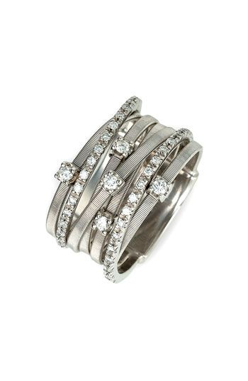 Isn't this what I should have for a 20th anniversary present?  Marco Bicego 'Goa' Seven Band Diamond Ring   #Nordstrom