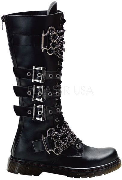 Disorder-402,Demonia Boots, Gothic Boots, Goth Boots, Punk Rock Boots, Punk Boots, Steampunk Boots, Cyberpunk boots