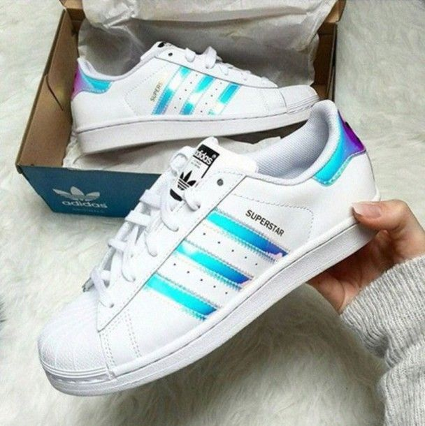 922015ed04 Scarpe Sportive Donna Adidas Superstar Iridescent | couple/lovers ...
