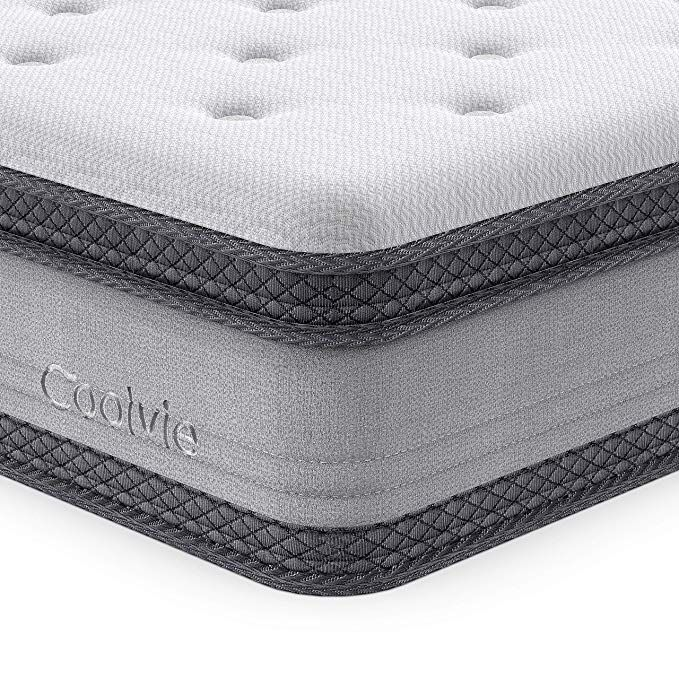 Full Mattress 10 Inch Coolvie Memory Foam Hybrid Coil Mattress In A Box Individually Pocket Spring Mattr Pocket Spring Mattress Hybrid Mattress Twin Mattress