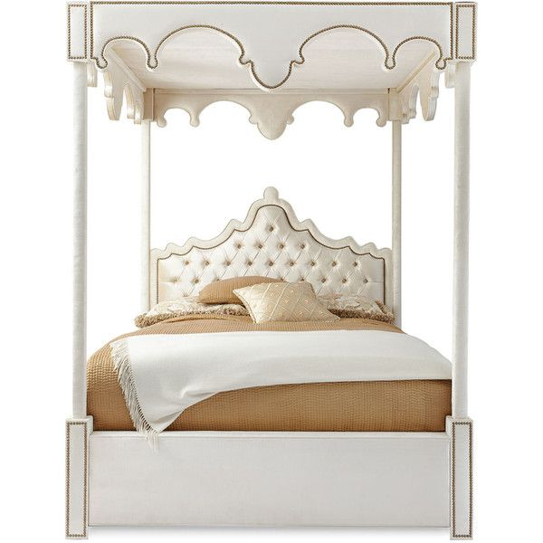 Haute House William Queen Canopy Bed ($6,599) ❤ liked on Polyvore featuring home, furniture, beds, bedroom, camas, queen canopy bed frame, hand made furniture, handcrafted furniture, handmade furniture and queen canopy bed