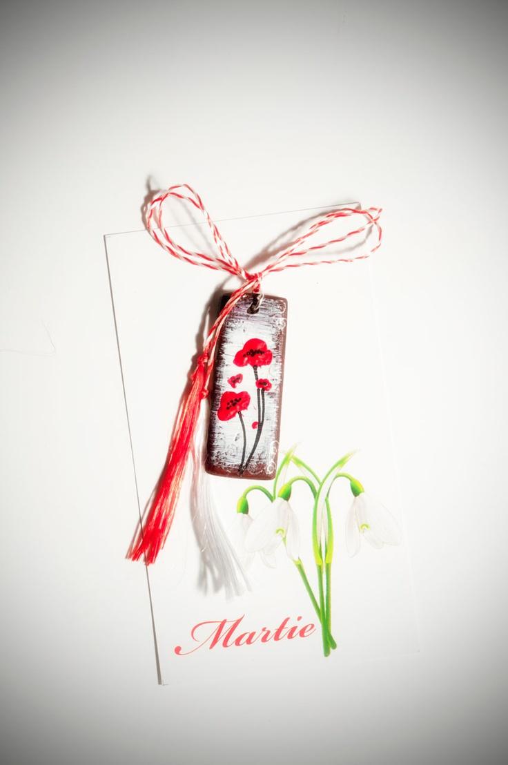 "Martisor ""Red poppies"" grena (7 LEI la Liynda.breslo.ro)"