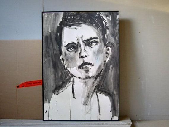 Großes Modernes Zeitgenössisches Frauenportrait  von GalerieMiniMal