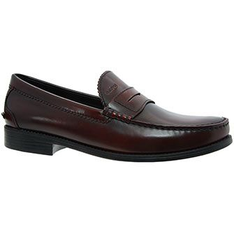 Geox Mahogany Brown Leather Loafers