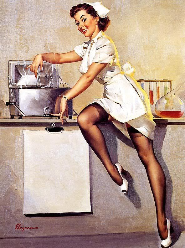 """""""Now Don't Ask Me 'What's Cookin'"""" by Gil Elvgren, 1948"""