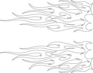 Tribal Flame Outline Cars Flame Tattoos Tattoo