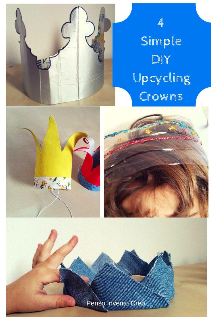 penso+invento+creo: 4 #CORONE per la tua Festa di #Carnevale facili e divertenti #halloween #crown #diy #upcycling #kids #tutorial