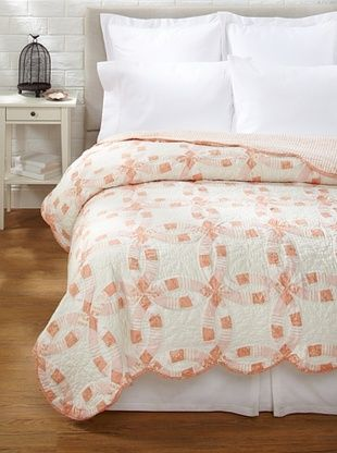 70% OFF Wedding Ring Quilt (Rose)