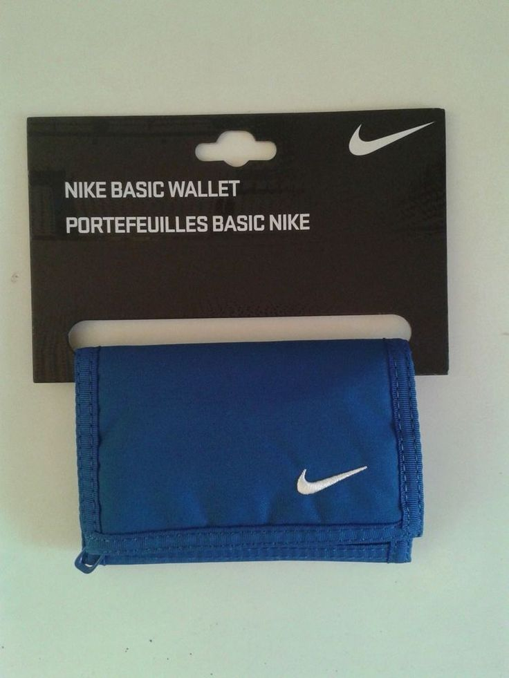 Nike Brand New Basic Wallet Men Unisex Dark Blue Color Leather Zipper  #Nike #BadgeWallet