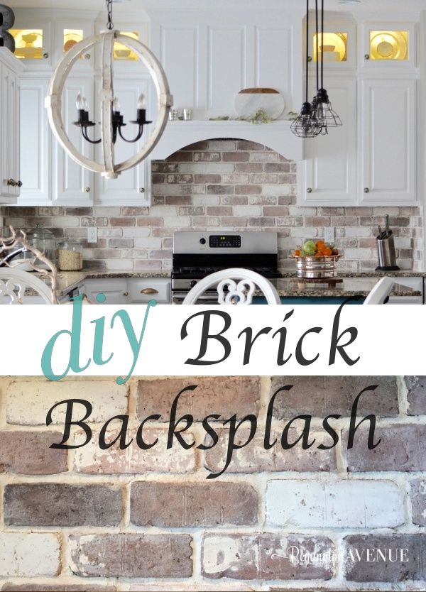 Do It Yourself Kitchen: Do-It-Yourself Brick Veneer Backsplash
