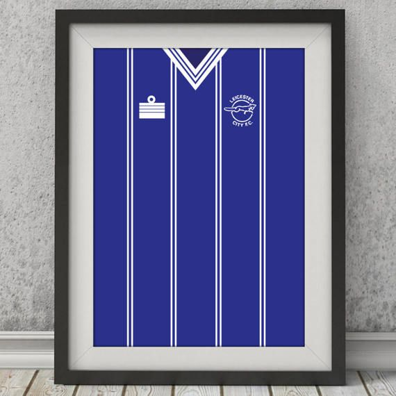 Classic Leicester City Fc Shirt  Illustrated Poster Print