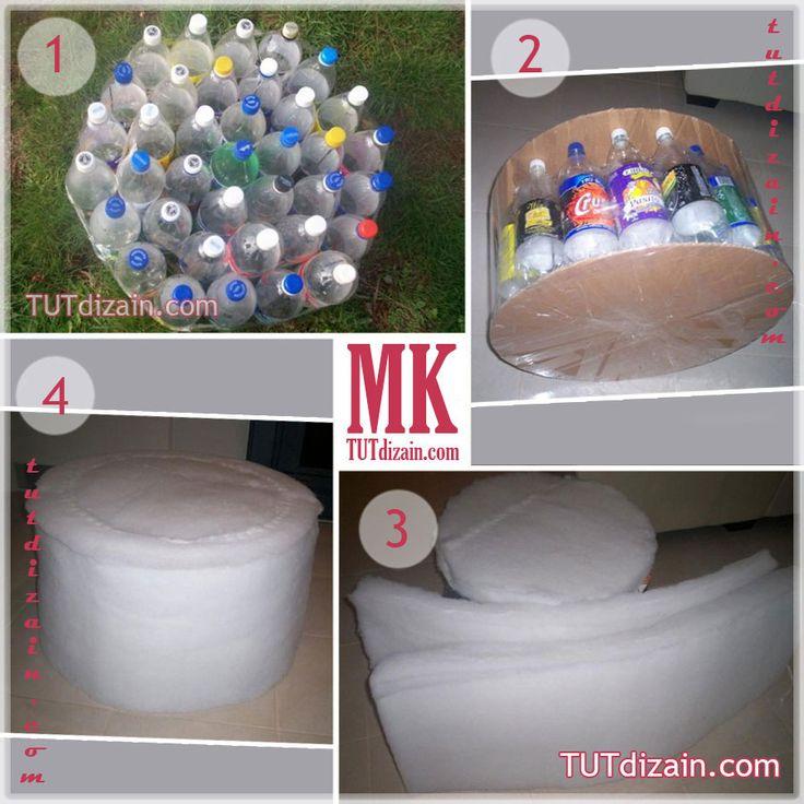Мастер классы по пуфикам из пластиковых бутылок