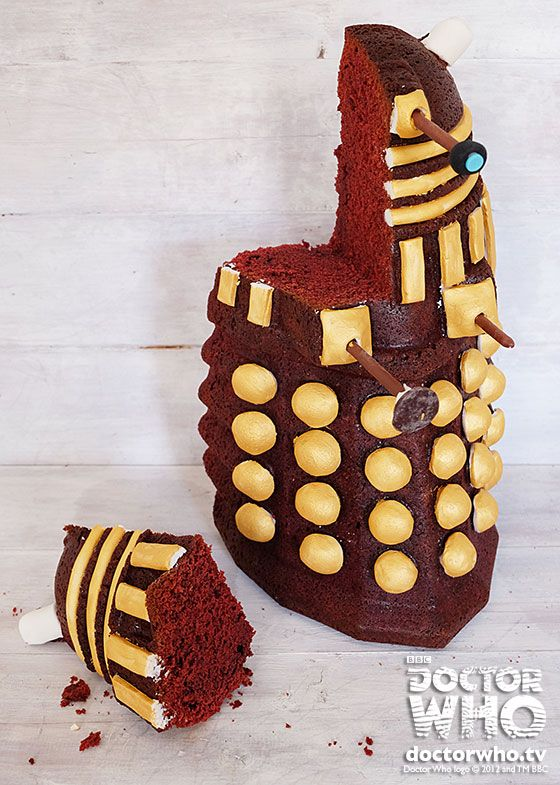 My Dalek cake recipe for Doctor Who