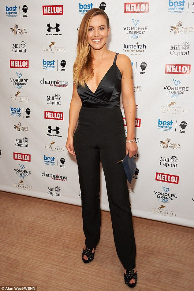 Head-turning: TV presenter Charlie Webster showcased her slender figure in a figure-hugging one-piece
