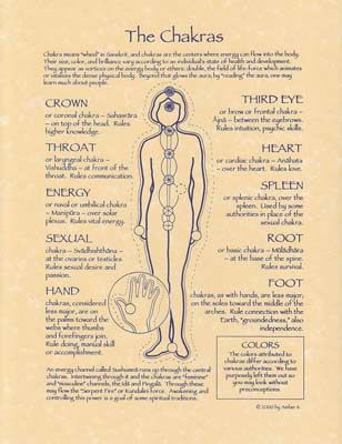 Chakra Parchment Poster -The Old Ways Witchcraft Shoppe | The Old Ways Witchcraft & Pagan Shop