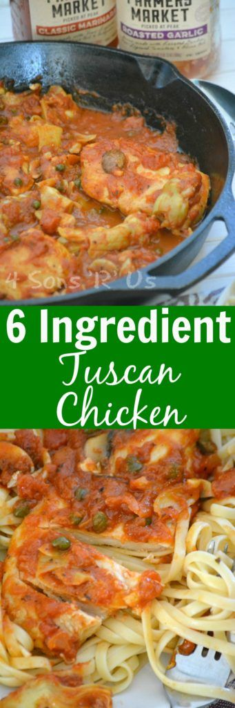 Just because we're short on time, does not mean we need to sacrifice flavor or heartiness-- which is exactly where 6 INGREDIENT TUSCAN CHICKEN enters the picture! A quick and easy, saucy Italian-style chicken dish, this one pan meal is perfect when served over a bed of your favorite pasta. @Walmart #PickedAtPeak #ad