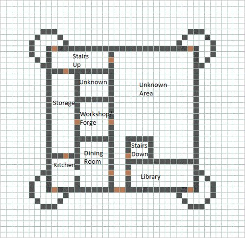 This is a large castle, and is a nice, very late-game house. The grey represents what material...