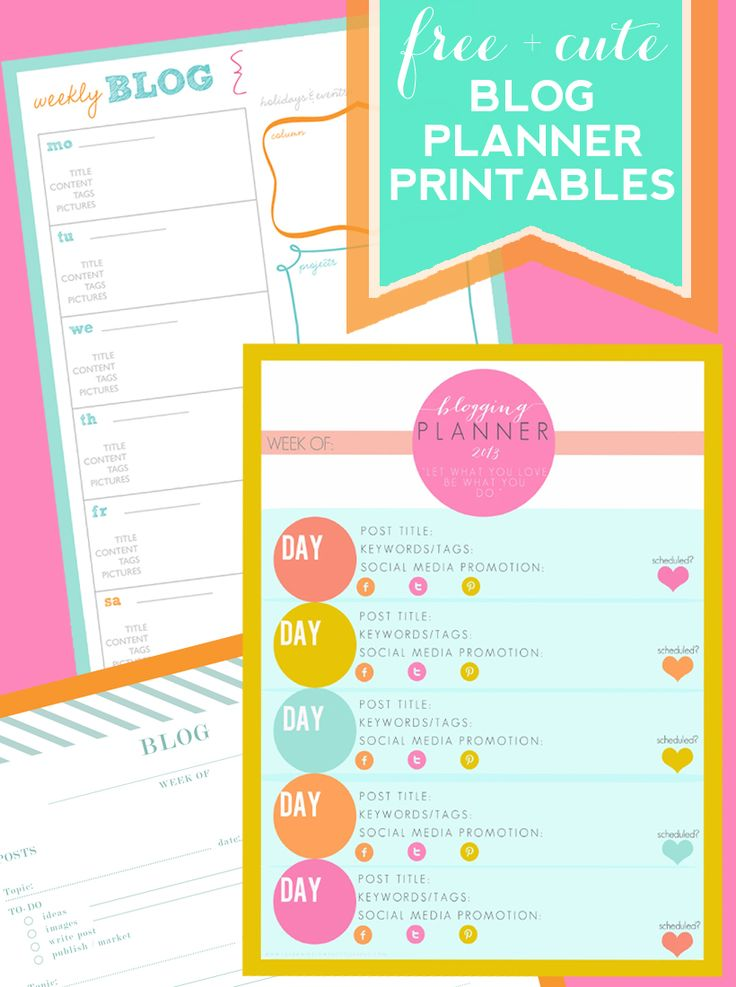 FREE and Cute Blog Post Planning Printables!