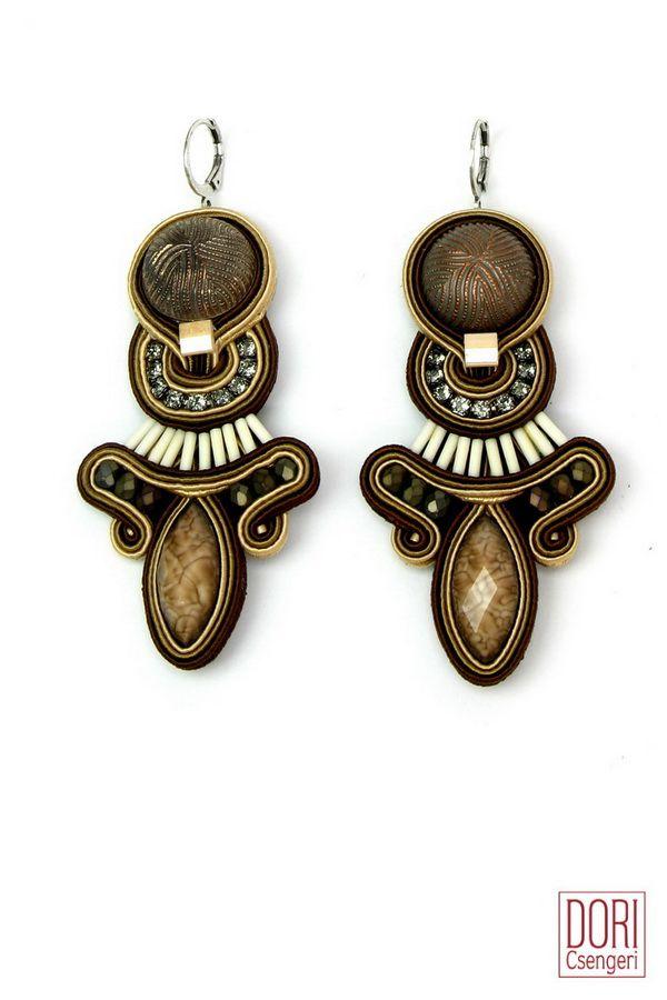 AFF-E937 , earth tones , earth tones earrings , brown earrings ,