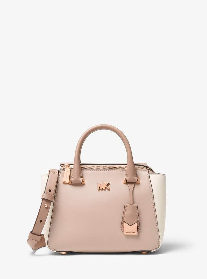 320e2058638c4e MICHAEL Michael Kors Nolita Mini Color-Block Leather Satchel ...