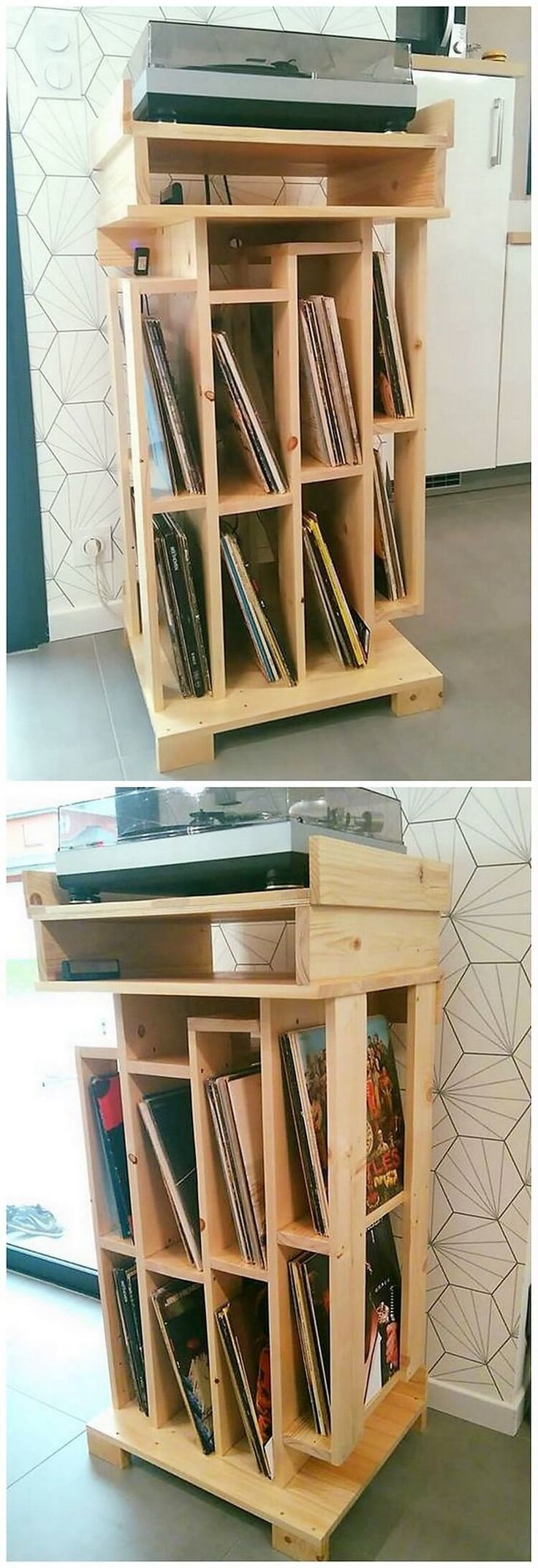 To make your kid's room as a perfect place for the study, we would make you suggest with the idea of adding their rooms with the creative designed wood pallet bookshelf creation project. Into this furniture set, you will view the different portions or divisions of the bookshelves as it is all end up to be super exciting for the kids.