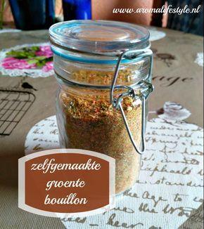 Dit zelfgemaakt bouillonpoeder van gedroogde groente en kruiden is gezond, zonder e-nummers en makkelijk te maken.