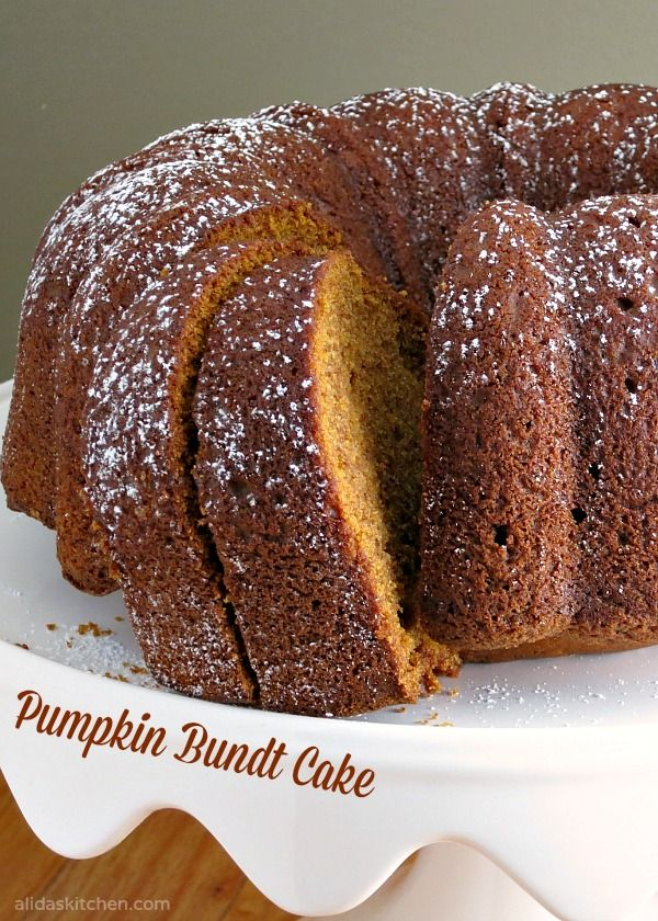 Pumpkin Bundt Cake - takes less than 10 minutes to prepare using simple pantry ingredients!