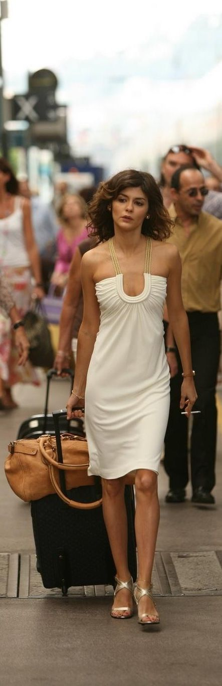 So hot on her - easy, dressy. I'd just pull the scoop neck upward a touch and we have a winner.