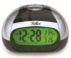Reflex Black And Silver Digital Talking Alarm Clock