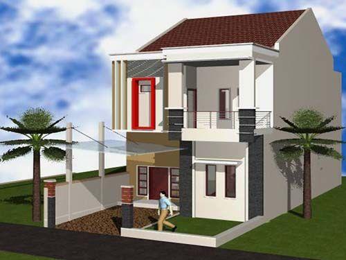 desain rumah sederhana 2 lantai minimalis