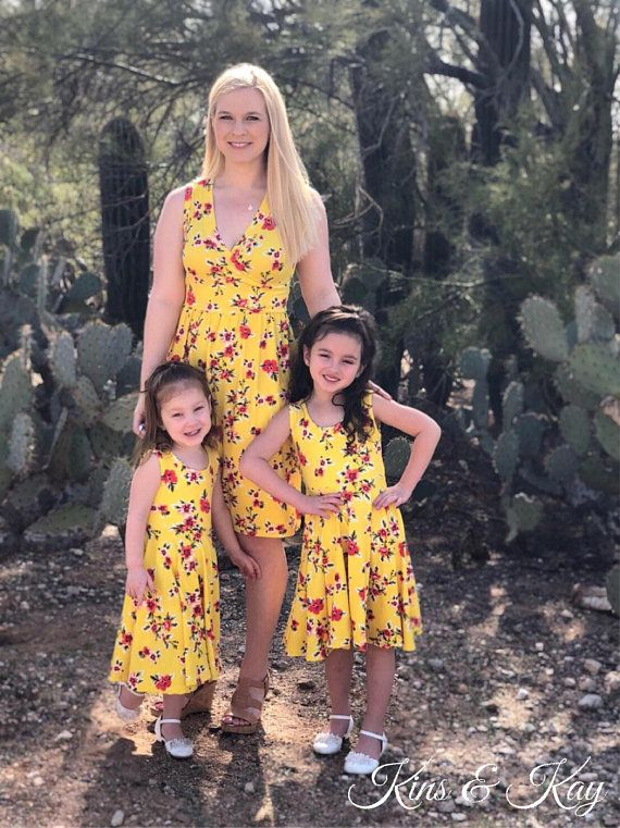 fee54db87c866 Mother Daughter Matching Dress | Mommy and Me Outfits | Yellow Dress ...