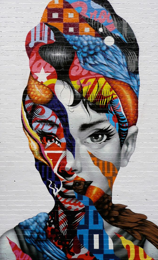 Street Artist Mixes Contemporary with Vintage in Outdoor Pieces