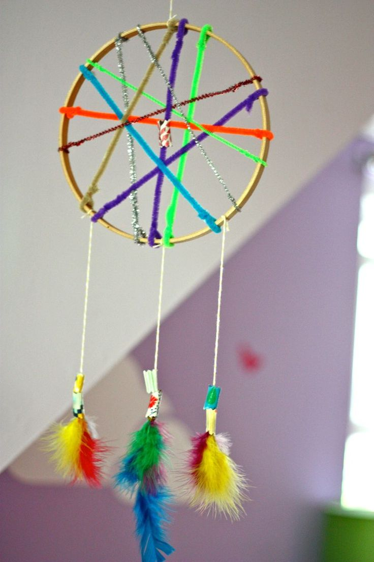 70 best images about preschool pajama dance party craft for Materials to make a dreamcatcher