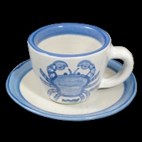 Crab Coffee Cup and Saucer. $24.25
