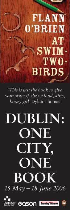 Dublin City Council Banners - One City, One Book 2006 -- 'At Swim-Two-Birds', Flan O'Brien #civicmedia2006