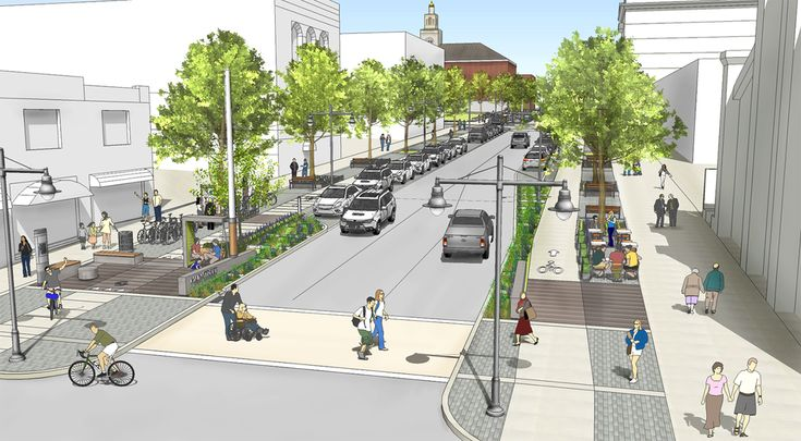 Image result for small town main street design parallel