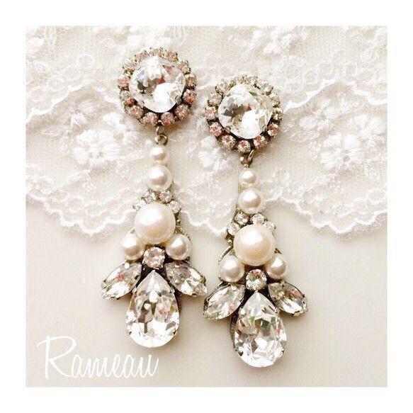 Resale ·:. + ° Pearl Bijou ♡ Rameau bridal accessories (earrings, earrings)