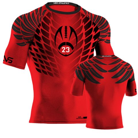 Hawk Style Compression - Red - Flag Football  d981135e7