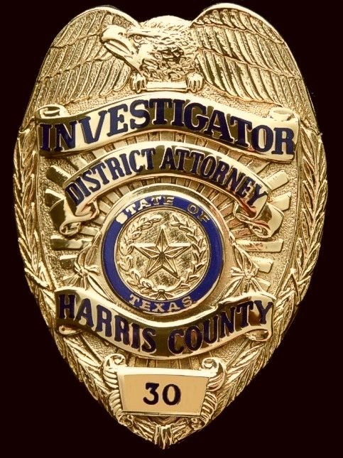 Harris County, TX District Attorney Department Badge ...