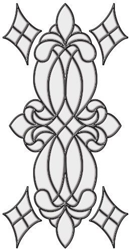 "Brewster 93806 Vineyard Stained Glass Peel & Stick Wall Decal, Clear by Brewster. $17.93. The Vineyard Stained Glass Window Kit quickly transforms your glass into a beautiful work of art. This Victorian stained glass pattern has a classic medallion design with four corner diamond motifs. These panels are easy to work with and give your glass an authentic stained glass look. Vineyard Clear Stained Glass Appliqués are 9"" x 17"" and Hand-Crafted.. Save 22%!"