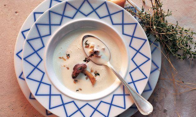 Vacherin-Suppe mit gebratenen Steinpilzen - Rezepte - Schweizer Milch