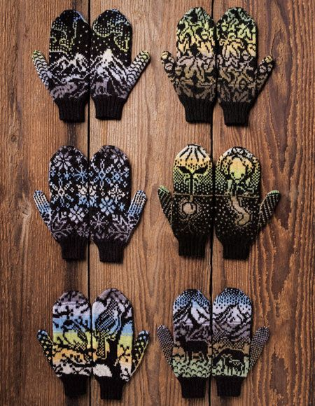 Woodland Winter Mittens - Knitting Patterns and Crochet Patterns from KnitPicks.com