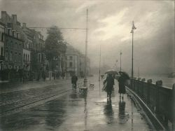 Léonard MISONNE - Pluie à Namur, Belgique, 1937